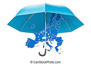 10 eu umbrella stock photos and images eu map under umbrella security and protect or insurance gumiabroncs Images