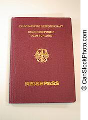 EU-Passport (Traveling) - A close up view of a EU-Traveling-...