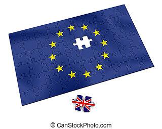 EU puzzle - European Union - British Piece