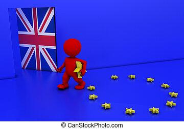 EU Referendum Man - 3D Render of EU Referendum Man