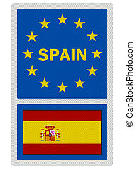 EU signs series - Spain (in English language), photo...