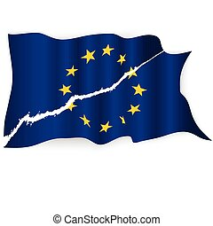 EU torn flag.