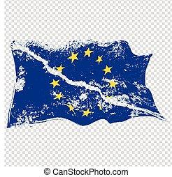 EU torn flag.