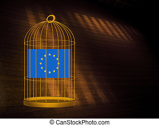 EU UK Brexit referendum - stay in, remain concept. Gilded ...