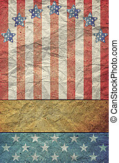 eua. bandeira, para, 4 julho, dia labor