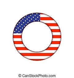 eua, botão, bandeira