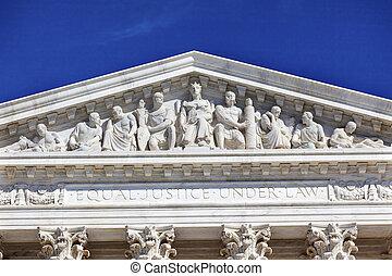 eua corte suprema, estátua, capitol hill, c.c. washington