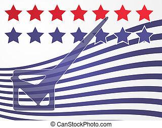 eua, eleição, votando, ilustração