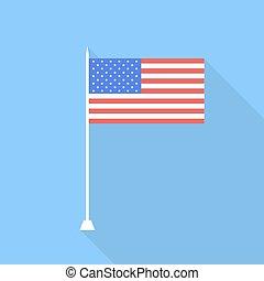 eua, flag., vetorial, ilustração, .