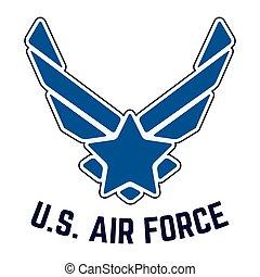 eua., força aérea, vindima, t-shirt, selo