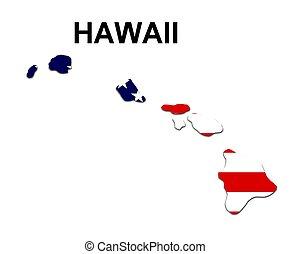 eua, havaí, listras, estado, desenho, estrelas