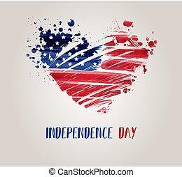 eua, independência, fundo, dia