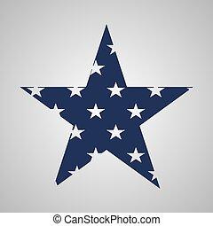eua, sinal estrela, em, bandeira, colors., vetorial