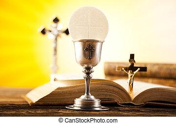 eucaristia, sacramento, di, comunione