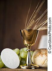 eucharist, 聖餐, 秘跡