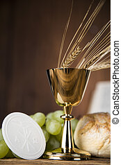 Eucharist, sacrament of communion - Symbol christianity...