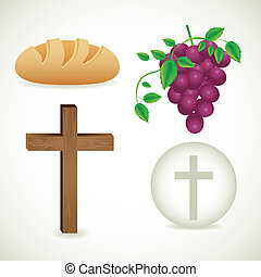 Eucharistic sacrament - Illustration of Jesus Christ,...