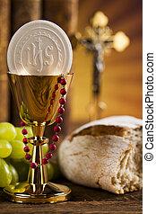 eucharistie, communion, sacrement, fond