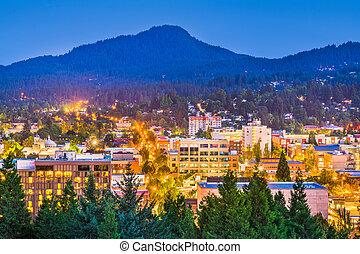 Eugene, Oregon, USA Skyline - Eugene, Oregon, USA downtown ...