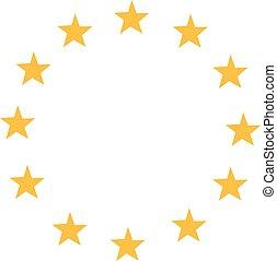 európa, csillaggal díszít