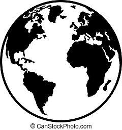 európa, north africa, bolygó földdel feltölt, amerika, déli