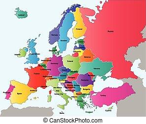európa, ország