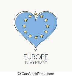 európa, szív, az enyém