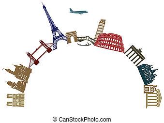 európa, utazás