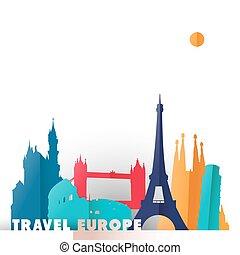európa, világ utazik, nyelvemlékek