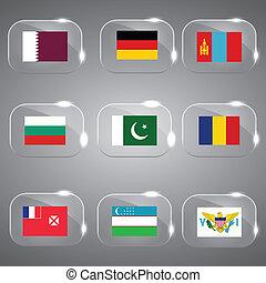 európa, világ, zászlók