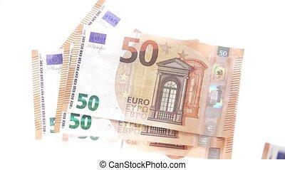 eur, blanc, factures, lancement, 50, fond