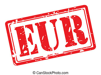 Eur red stamp text