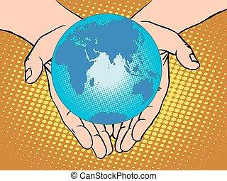 eurasia, australia, europ, africa, pianeta, antartide, terra, mani