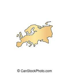 Eurasia computer symbol - Eurasia Gold vector icon with...