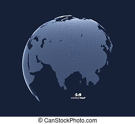 Eurasia. Earth globe. Global business marketing concept....