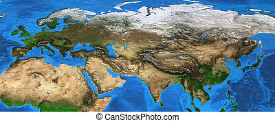 Eurasia - High resolution map of Europe and Asia - Map of...