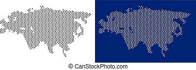 eurasie, pointillé, carte