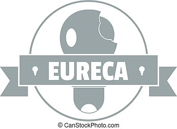 Eureka idea logo, simple gray style