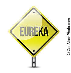 eureka sign illustration design