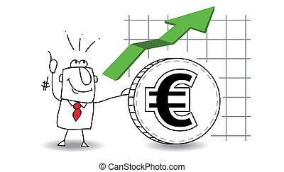 euro, è, crescere