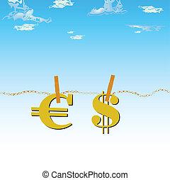 euro δολάριο , αέραs