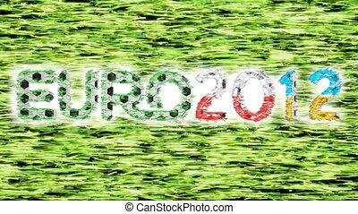 Euro 2012 championship. Symbols on grass