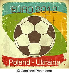 Euro 2012 football card - Euro 2012 Football card in retro...