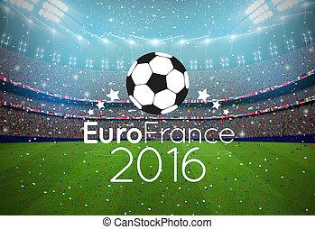 euro, 2016, fundo, frança, sportlights