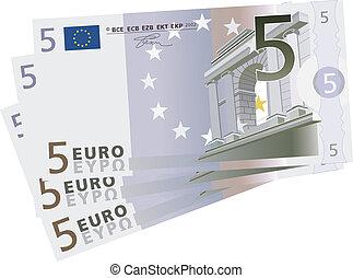euro, 5, factures