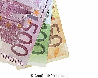 euro, aislado, blanco, plano de fondo