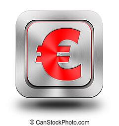 Euro aluminum glossy icon, button