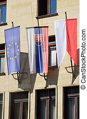 Euro and Slovak Flags