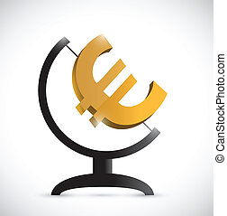 euro atlas symbol illustration design