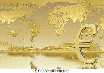 Euro Background -Business, success concept